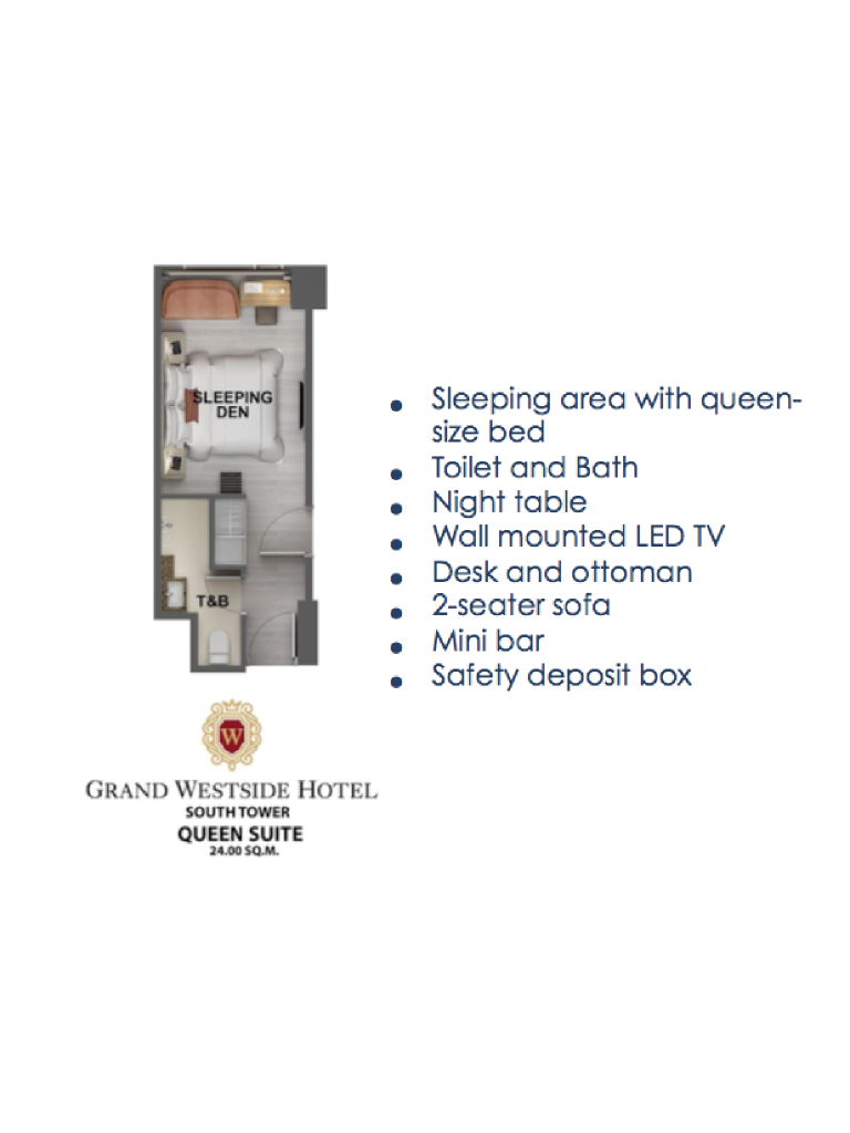 Grand Westside Hotel Queen Suite 24sqm