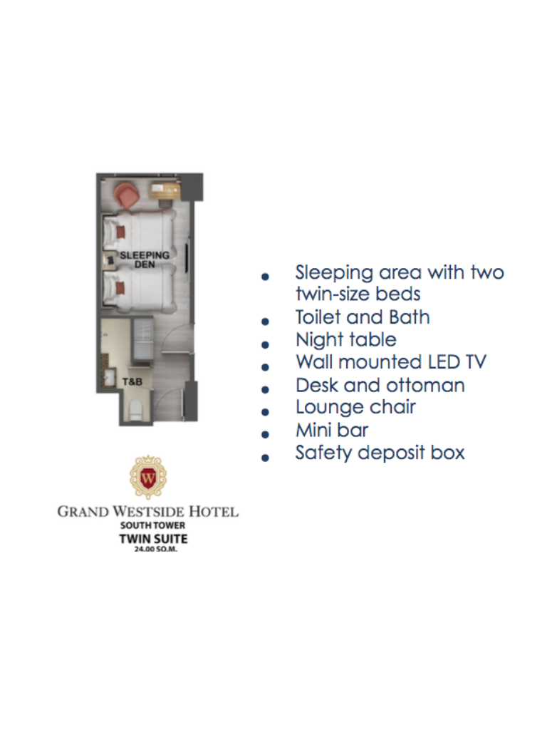 Grand Westside Hotel Twin Suite 24sqm