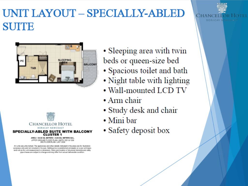 Chancellor Hotel Boracay Newcoast Specially-Abled Suite
