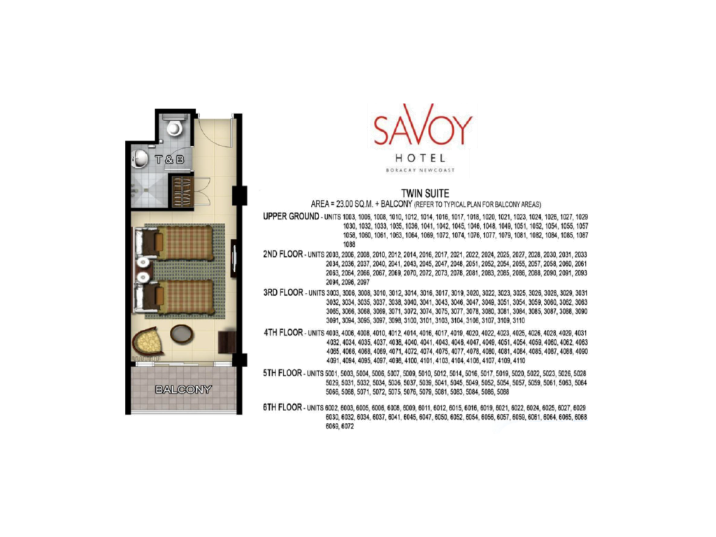 Savoy Hotel Boracay Newcoast Twin Suite 23sqm