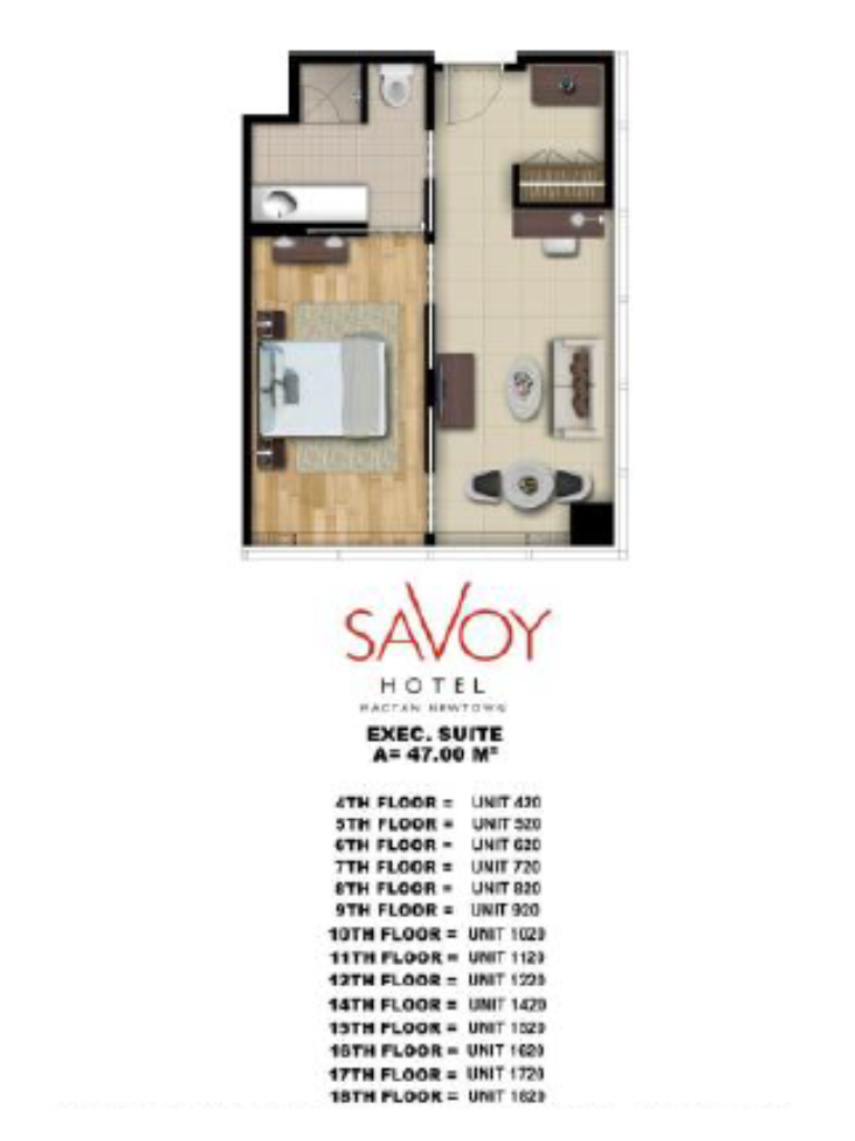 Savoy Hotel Mactan Newtown Executive Suite 47m2