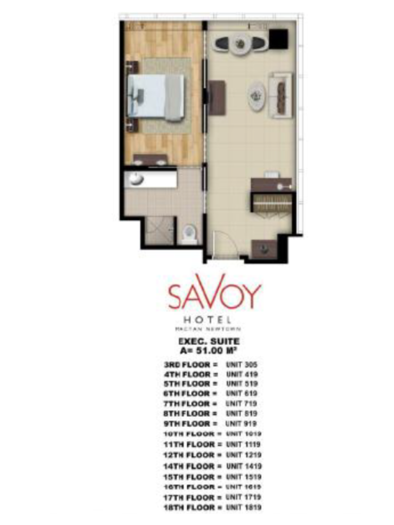 Savoy Hotel Mactan Newtown Executive Suite 51m2