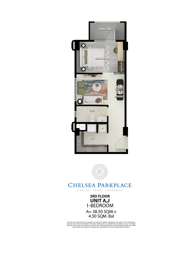 Chelsea Parkplace Unit A,J 3rd Floor