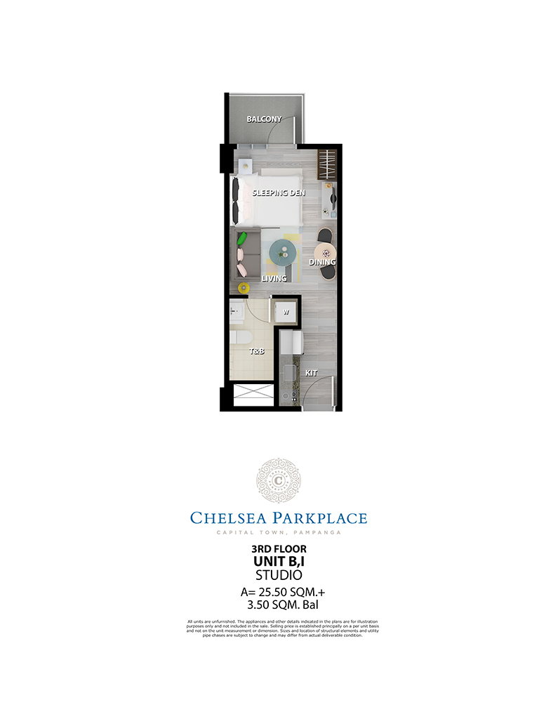 Chelsea Parkplace Unit B,I 3rd Floor