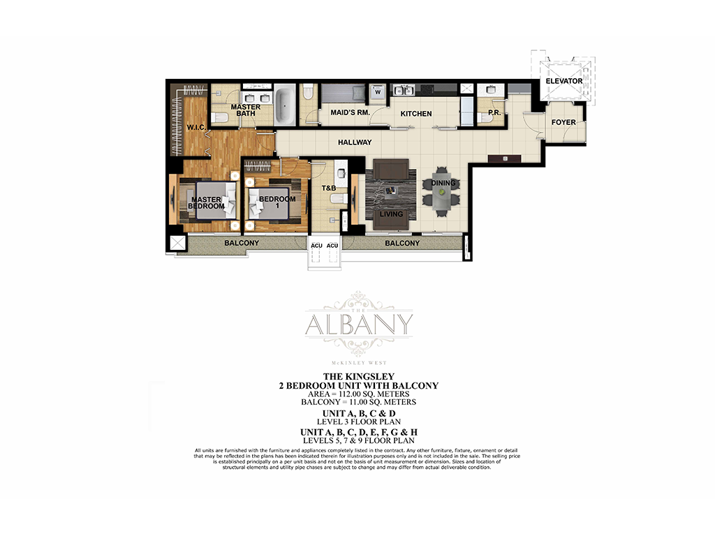 The Albany 2 Bedroom 112.00 SQ.M.