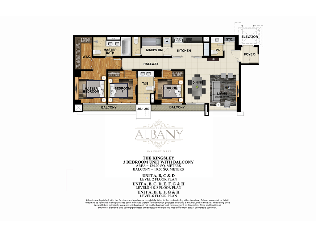 The Albany 3 Bedroom 124.00 SQ.M.