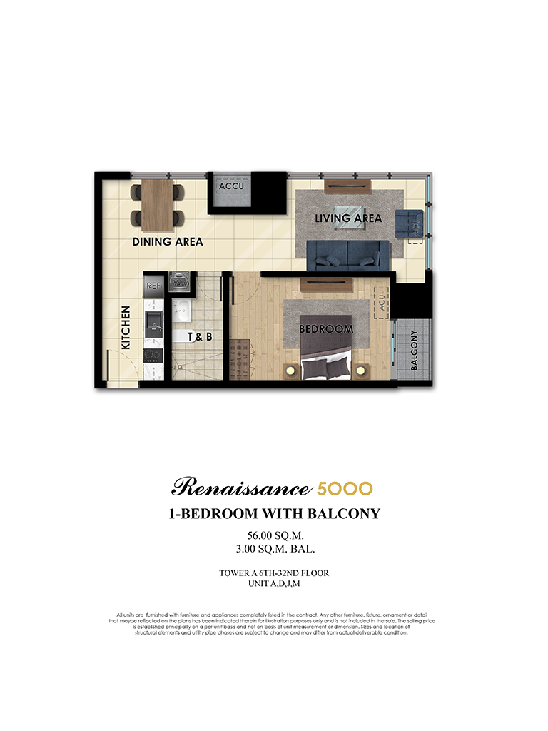The Fifth 1 Bedroom 56sqm