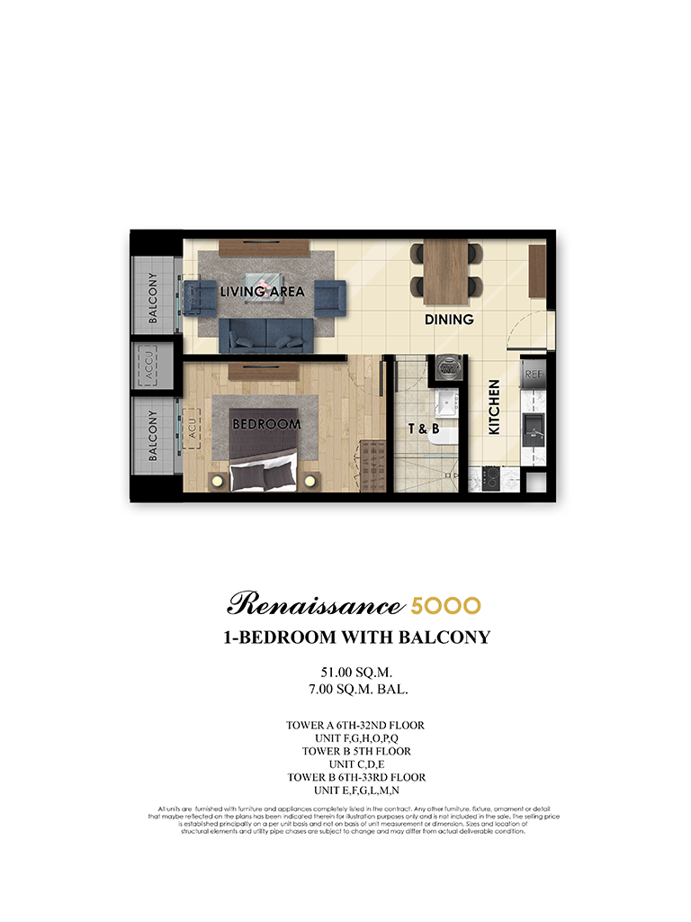 The Fifth 1 Bedroom 58sqm