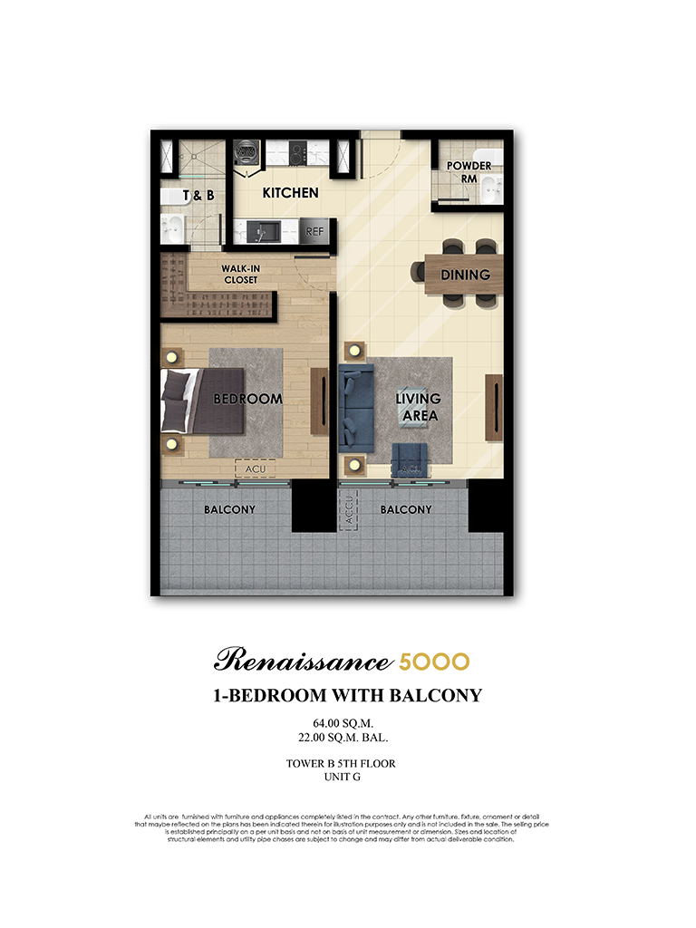 The Fifth 1 Bedroom 64sqm