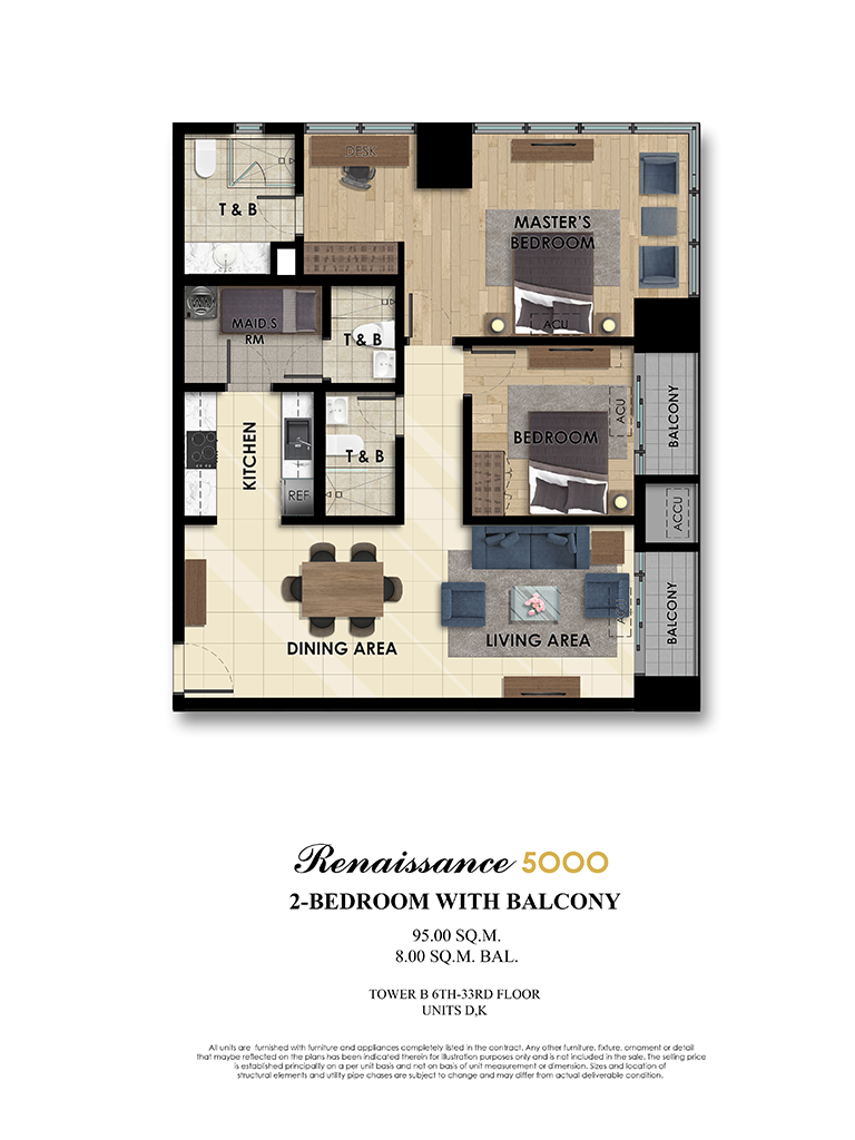 The Fifth 2 Bedroom 102 SQM
