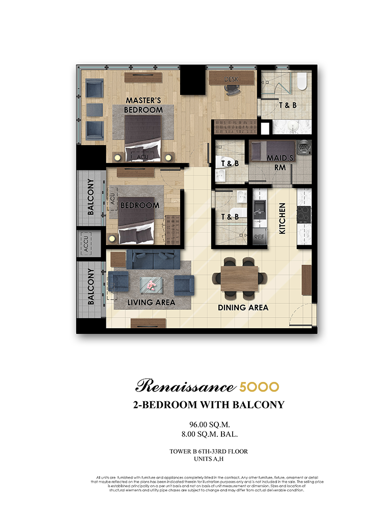 The Fifth 2 Bedroom 103sqm