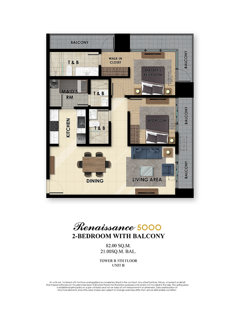 The Fifth 2 Bedroom 82sqm