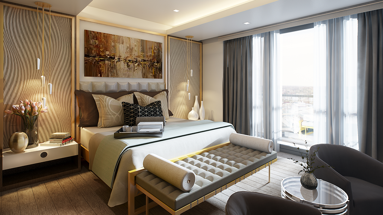 The Fifth Penthouse Bedroom