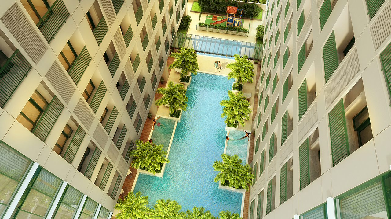 The Fifth Pool Aerial
