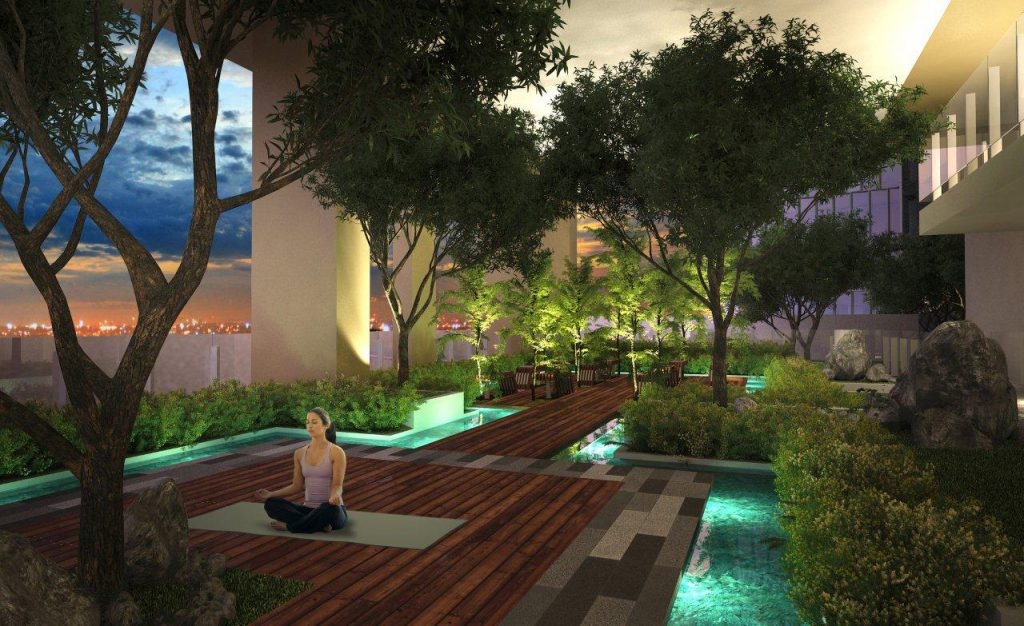 Park Mckinley West Yoga Area Night
