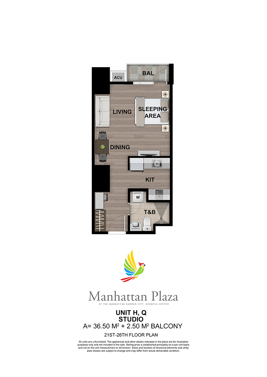 Manhattan Plaza Tower 2 21st 26th Floor Unit 6