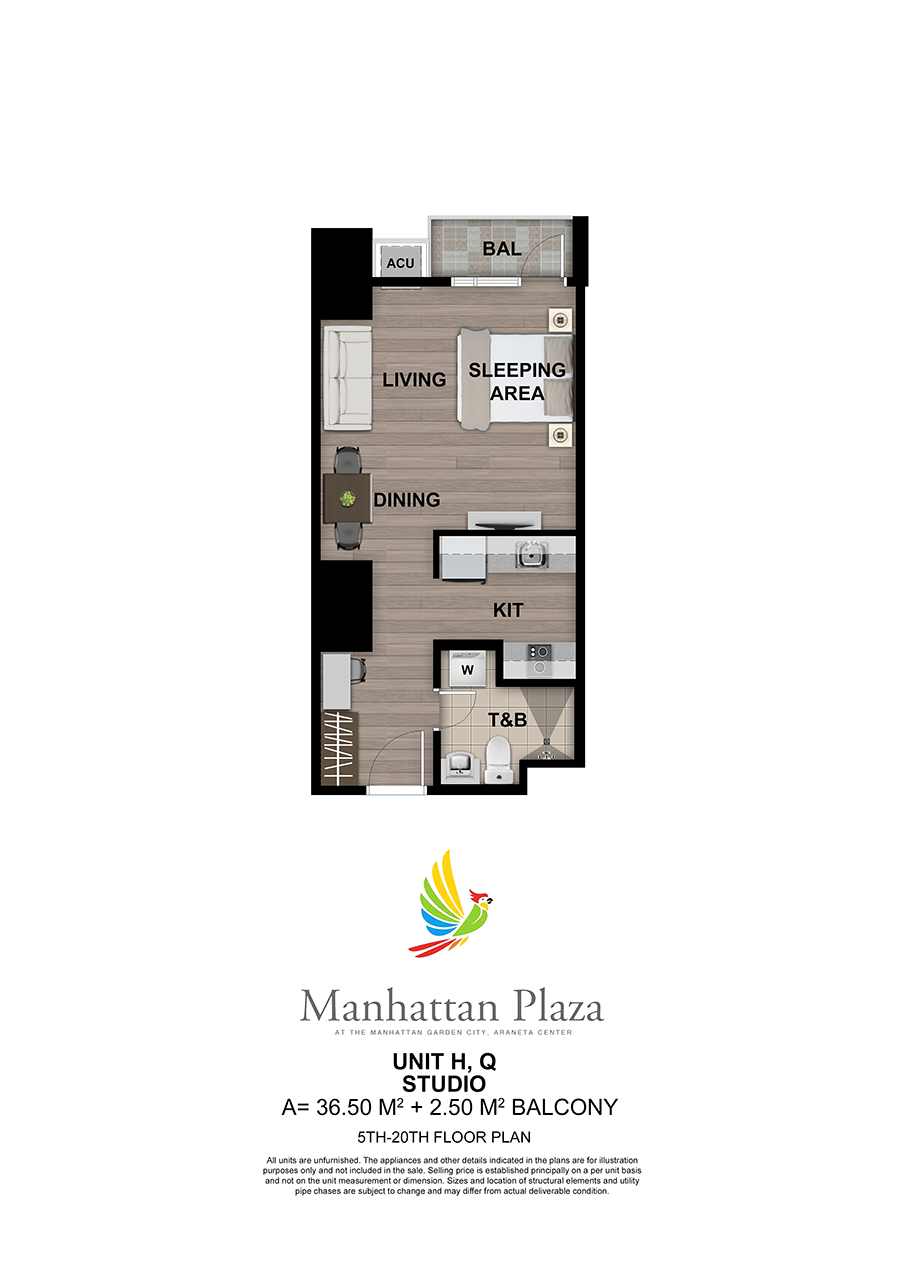 Manhattan Plaza Tower 2 5th 20th Floor Unit 5
