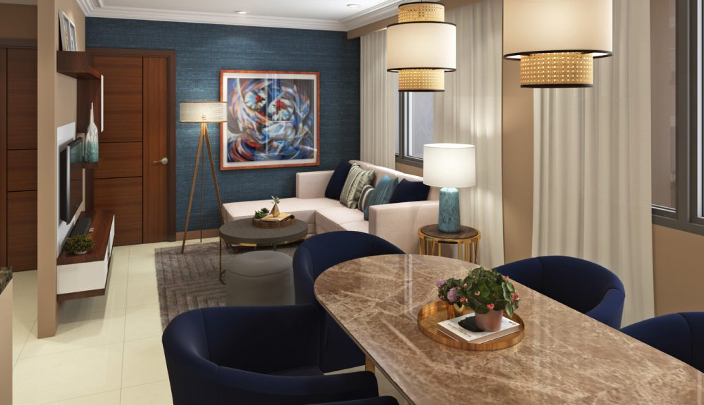 The Pearl Global Residences Living Room